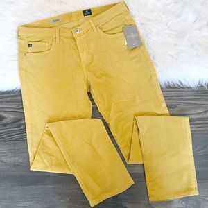 NWT AG 'The Stevie' Slim Straight Yellow Cords